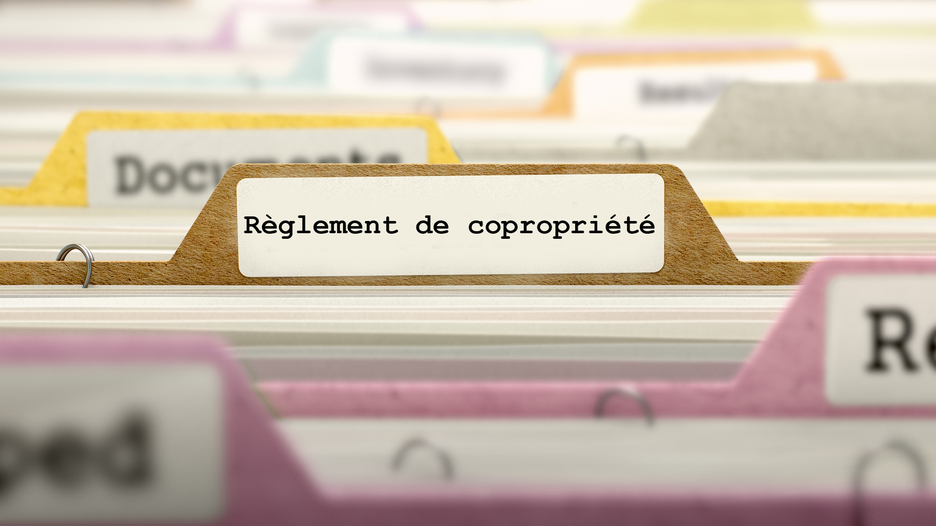 R glement de copropri t for Reglement interieur immeuble